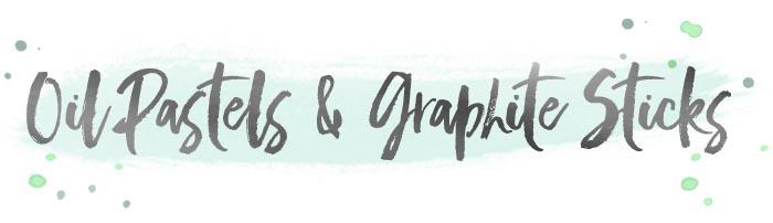 Oil pastels & graphites