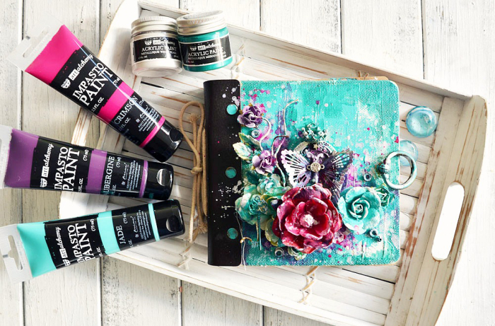 Stacey impasto paint journal