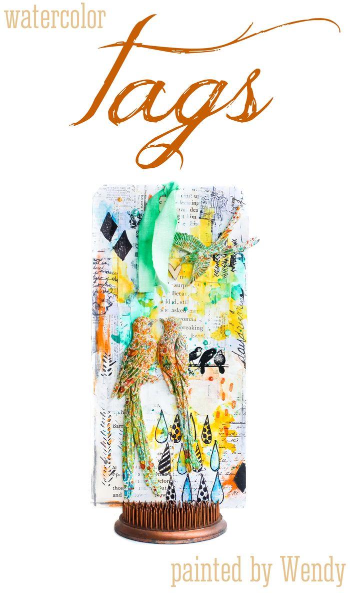 Watercolor tag wendy