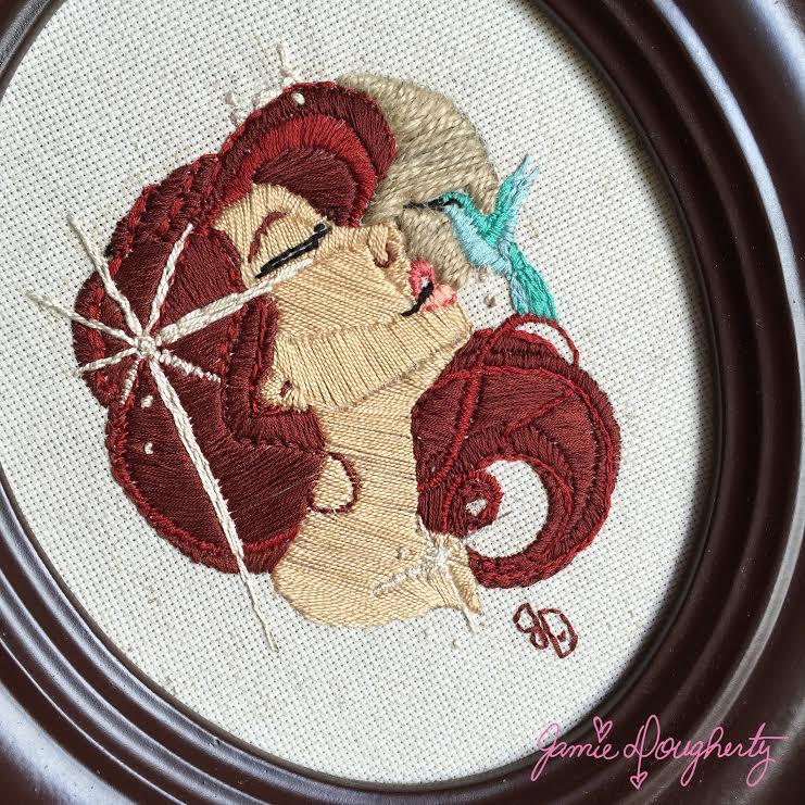 Bloom jamie embroidered cu