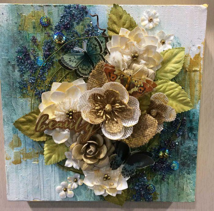 Flower canvas cari