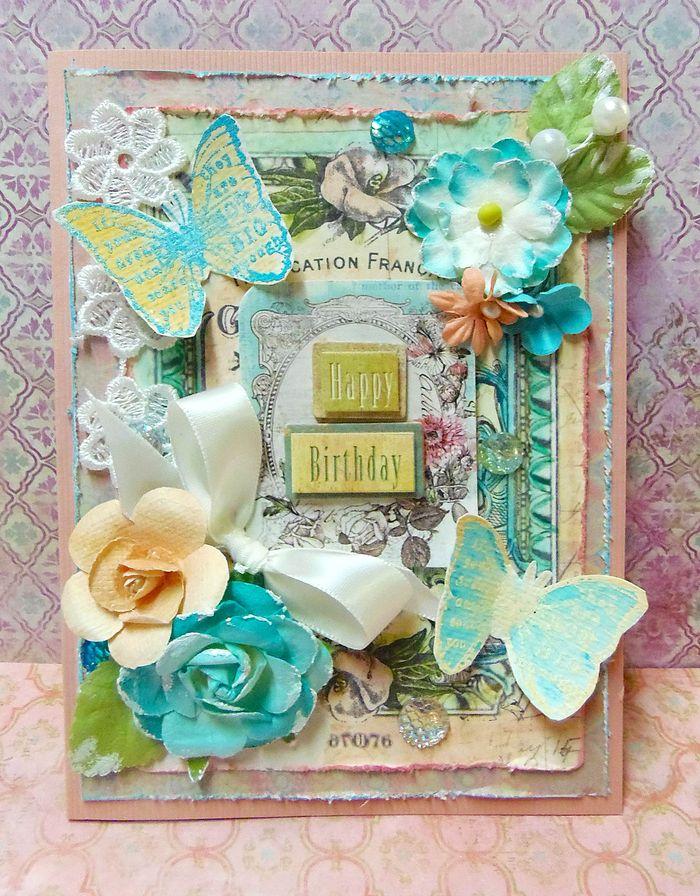 Watercolor patti card