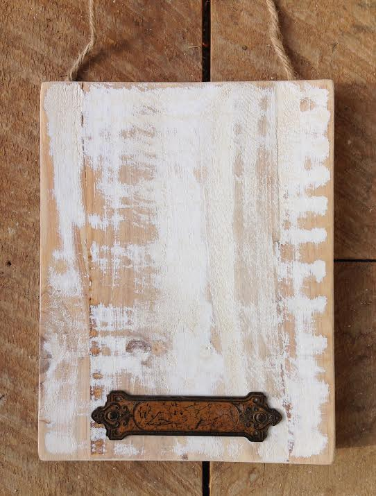 Carte blanche sanded