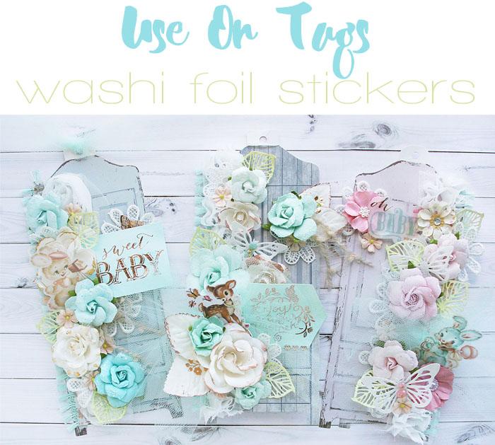 Washi tag collage