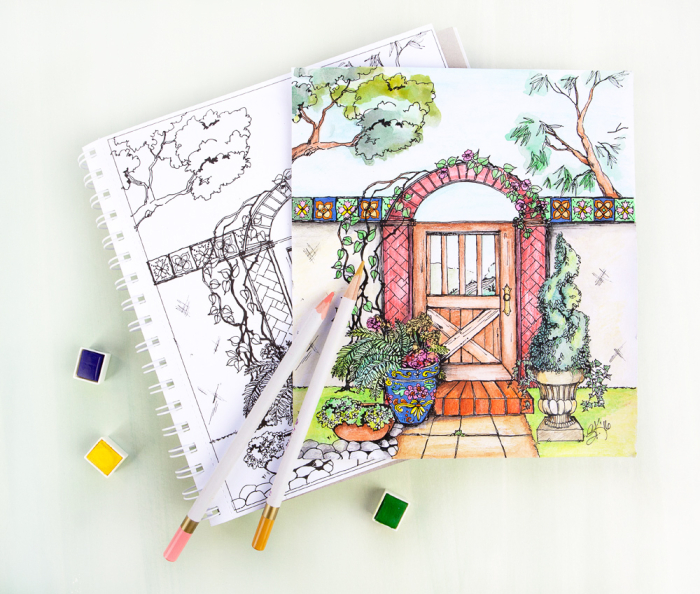 Sandi Created The Eye Catching Colors On This Page Using Prima Watercolor Pencils These Pages Hold Up Wonderfully To Many Different Medias Including