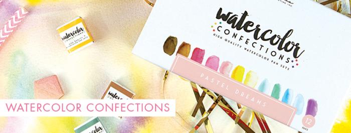 Watercolor confection header