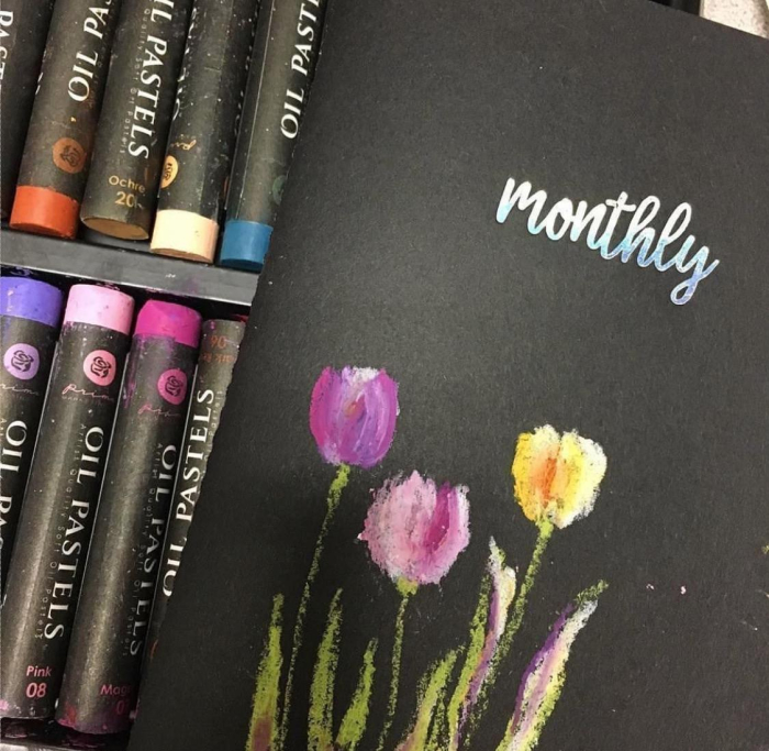 Oil pastels planner molly