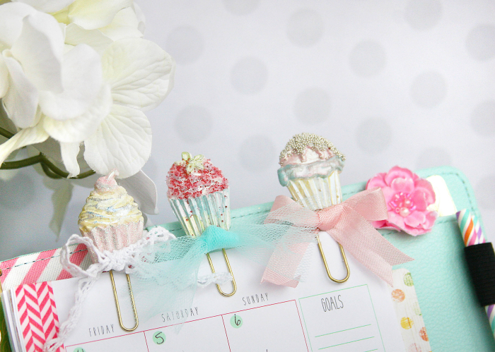 Cupcakes in planner cu