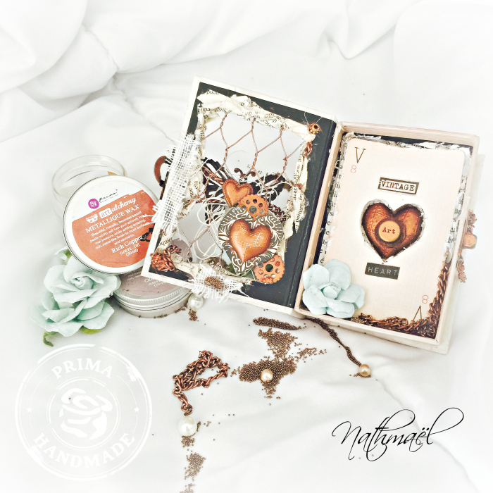 VINTAGE HEART 3  WAX NATH