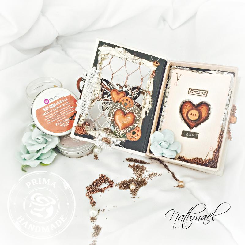 VINTAGE HEART 3  WAX NATH