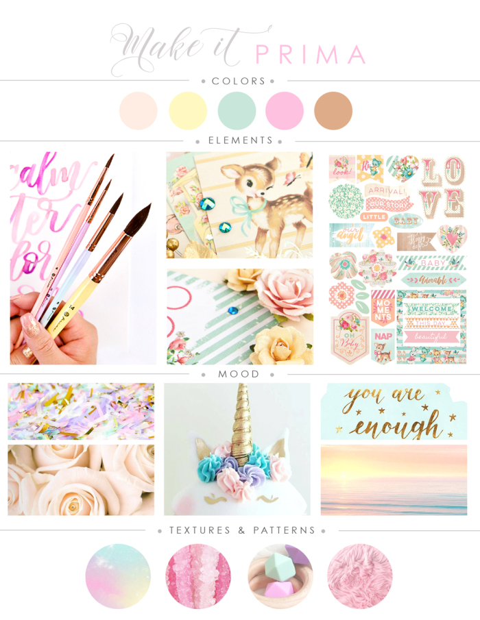 Wow, August Has Sneaked Up On Us All! Letu0027s Embrace This Challenge, Our  Final Make It Prima Mood Board, Filled With Delightful Colors, Textures, ...