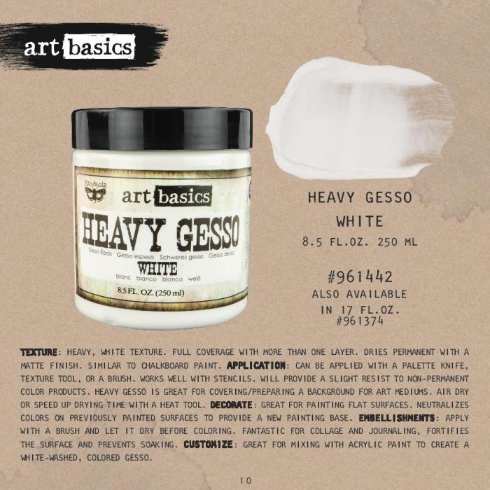 Heavy gesso white