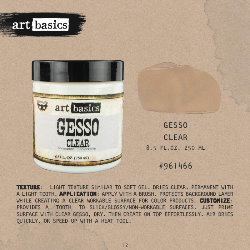 Gesso clear
