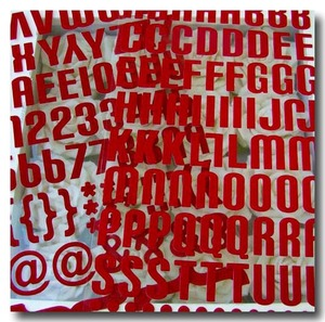 Flocked_letters_red